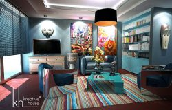 Creative Ways of Designing a Stylish Contemporary Apartment - apartment room interior design decoration design