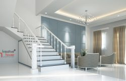 Classical Luxury Interior Designs-3d white