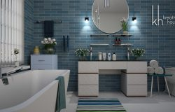 Ideas for gorgeous white bathrooms with marble tile