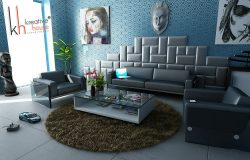 Modern apartment with perfect interior decoration