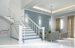 Classical Luxury Interior Designs-3d white