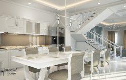 Luxury interior design - 3d white